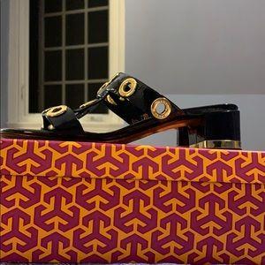 Tory Burch Navy Addie Sandals